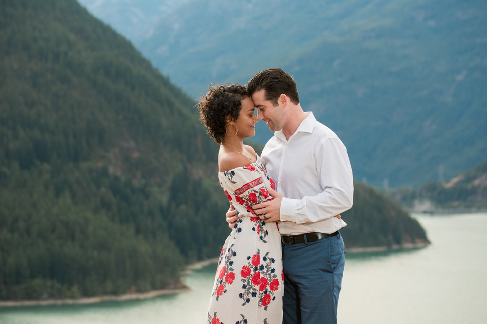 Diablo lake engagement session embrace