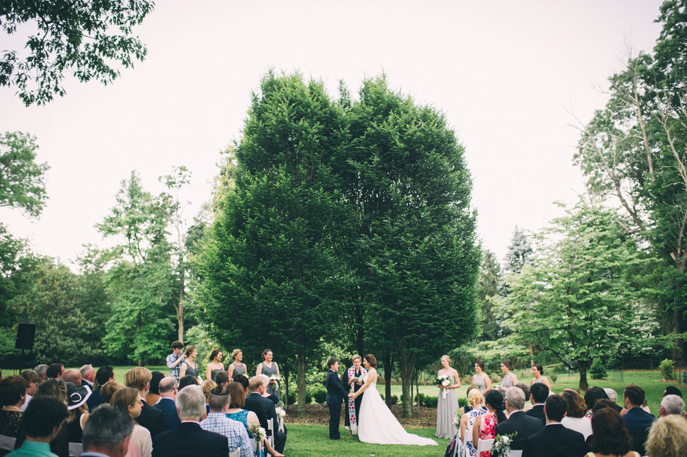 Garden wedding louisville kentucky garden ceremony under large tree