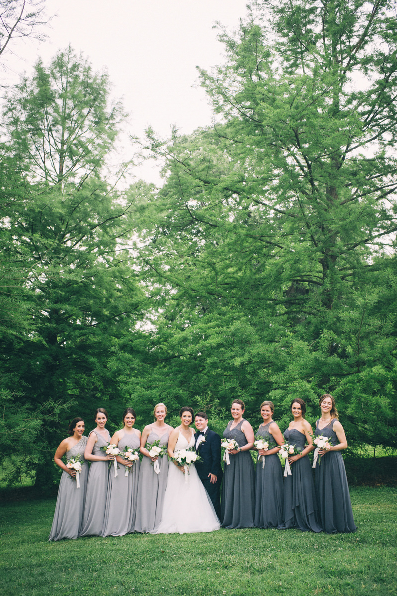 Garden wedding louisville kentucky brides and bridesmaids