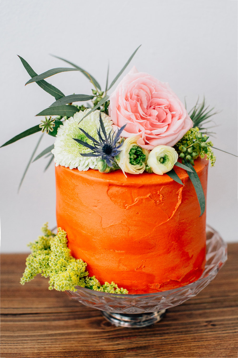 Photo by  Mary Kalhor , Florals by  Bahtoh , and Cake by  Deep Sea Sugar and Salt