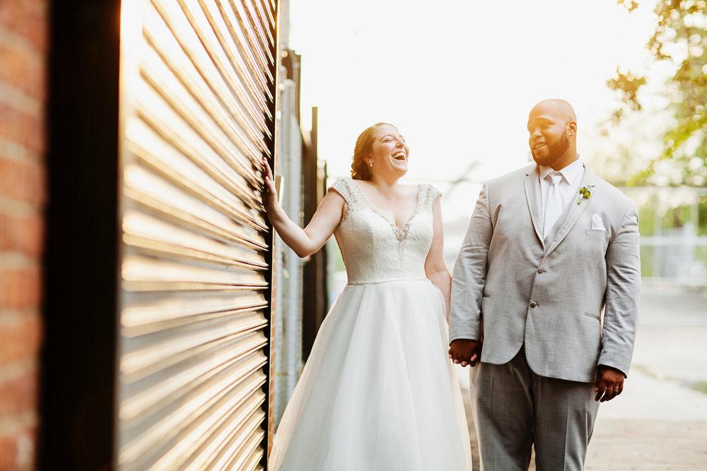 brooklyn bar wedding laughing candid
