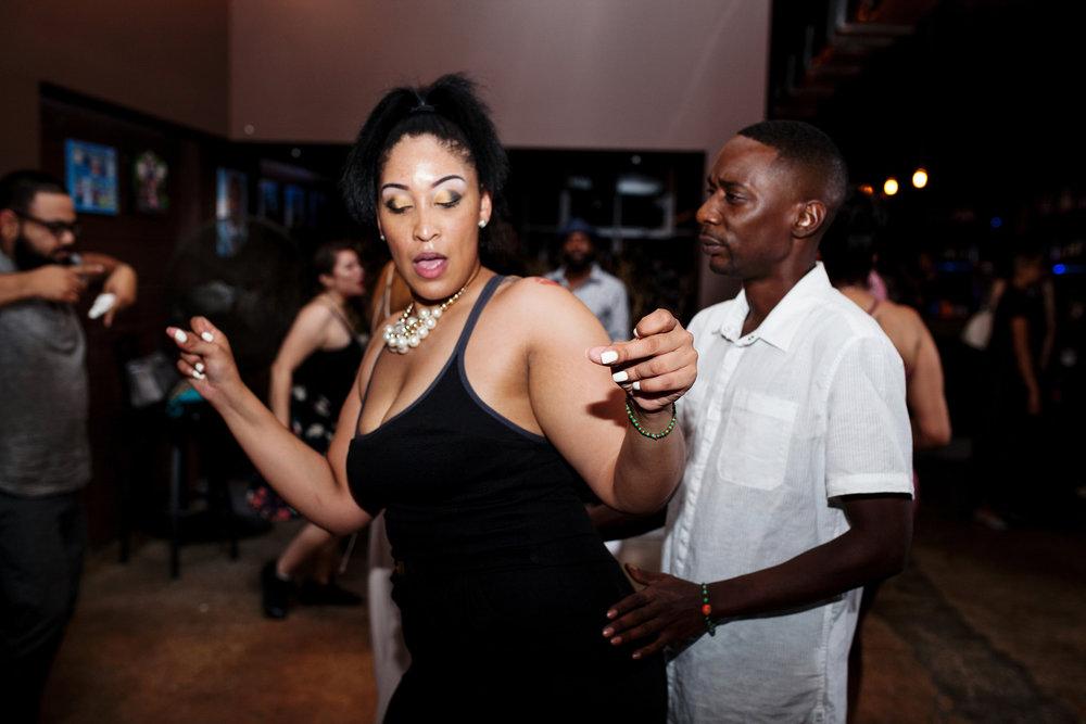 brooklyn bar wedding guests dancing