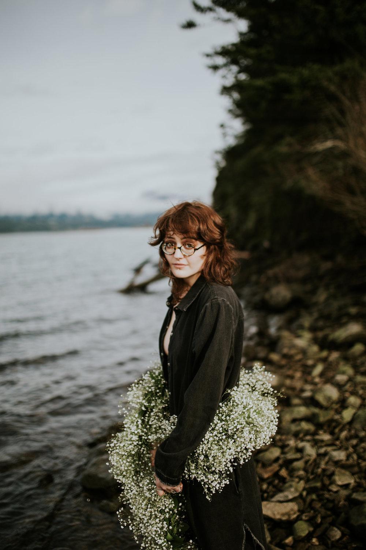 Em Boudoir Shoot Columbia River Gorge Portland Oregon Vancouver Washington Jamie Carle Photography Flowers Laurel Hurst Florist