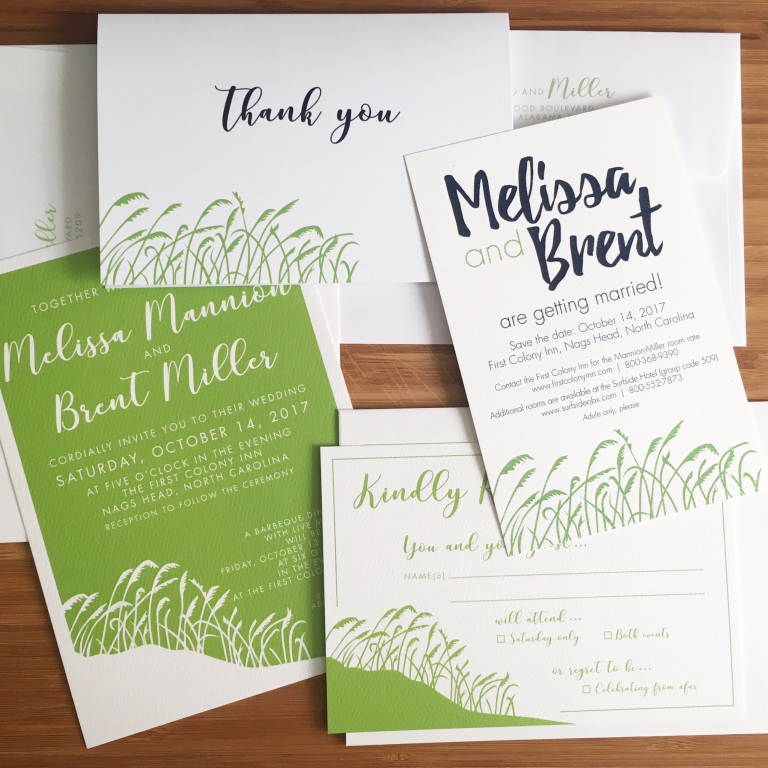 Emily Frock Graphic Design Custom Wedding Invitations