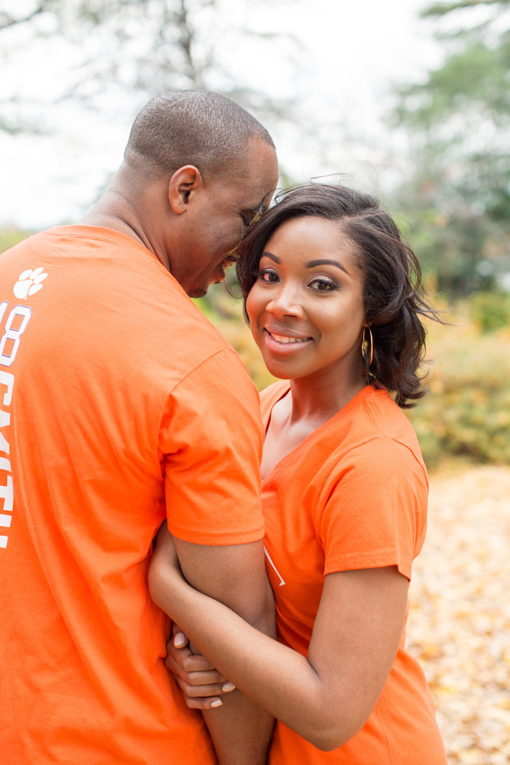 Jessica Hunt Photography Fall Autumn Engagement Session in Columbia South Carolina Clemson Alums Brent + Cass