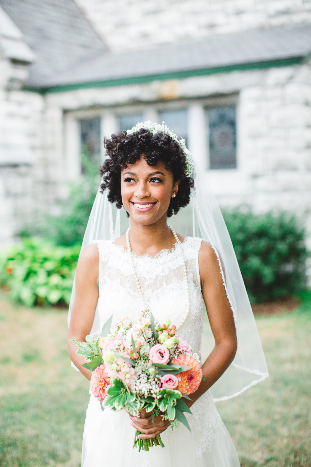 Natural Hair Bride Savannah Georgia Wedding Button Wood Grove Winery Izzy Hudgins Photography