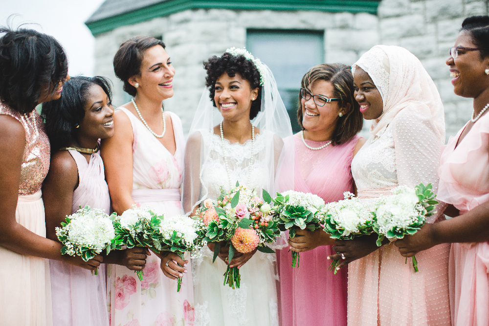 Bride and Bridesmaids Savannah Georgia Wedding Button Wood Grove Winery Izzy Hudgins Photography