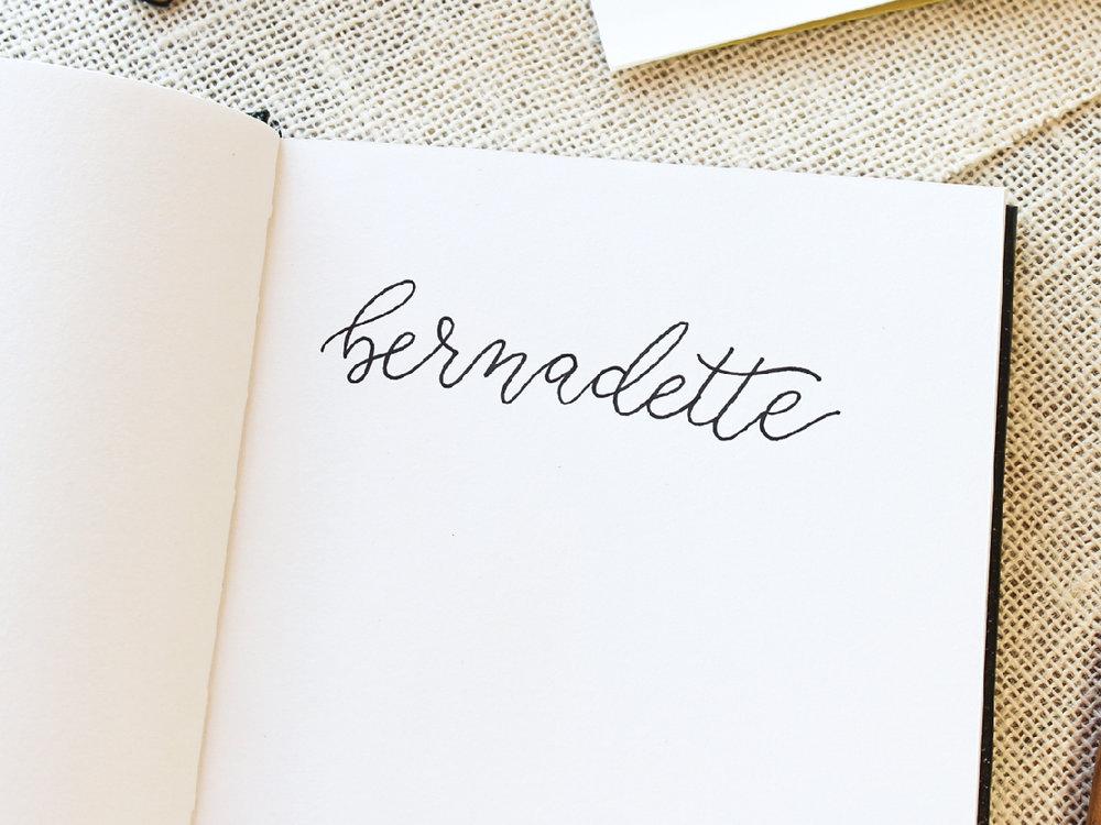 Bernadette Fischer Hey Bernadette DIY Faux Calligraphy