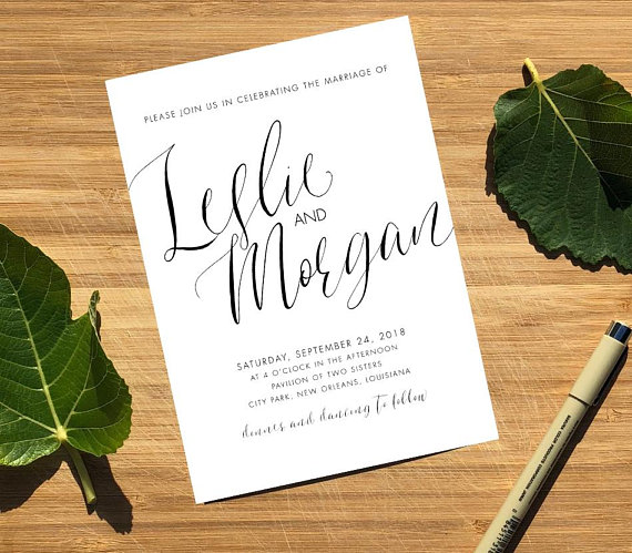 Emily Frock Graphic Design custom Wedding Invitation Suite Design New Orleans Louisiana