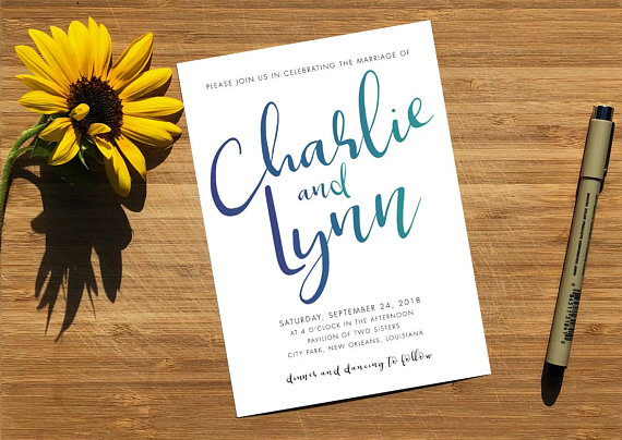 Emily Frock Graphic Design Custom Wedding Invitation Suite Design LGBTQ friendly New Orleans Louisiana