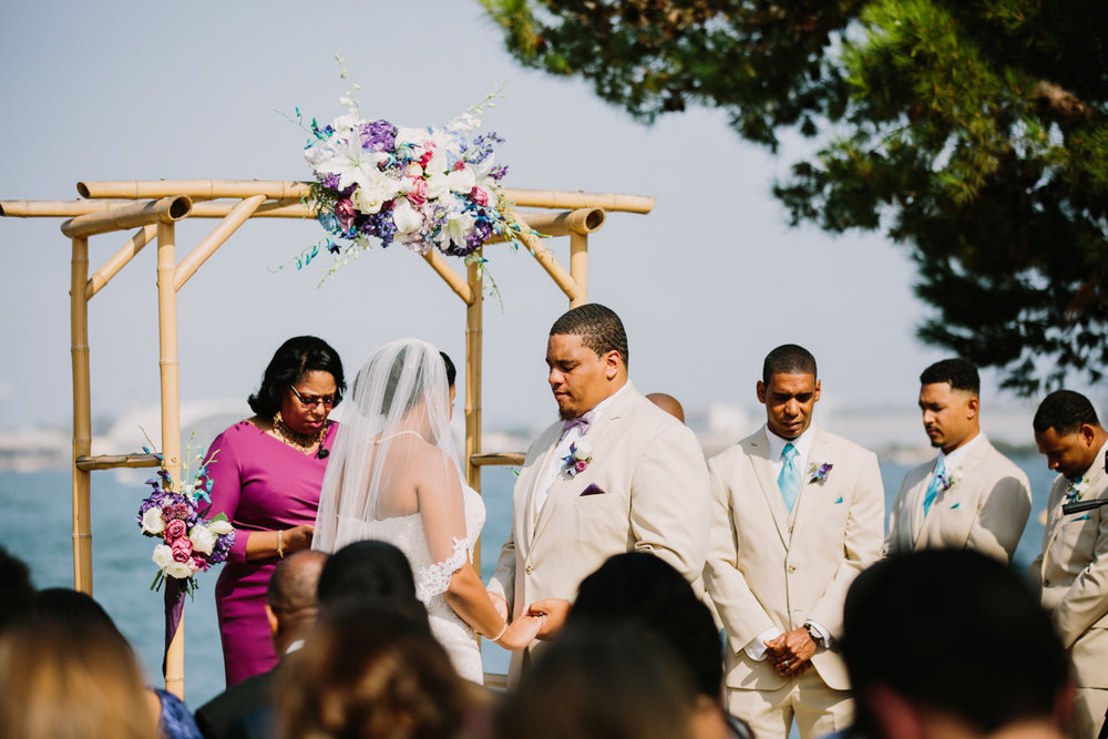 San Diego Tropical-Inspired Wedding ceremony by the ocean