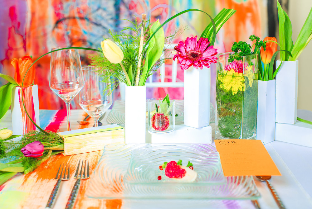 Love Out Loud Parker Colorado Styled Shoot table setting with entrée