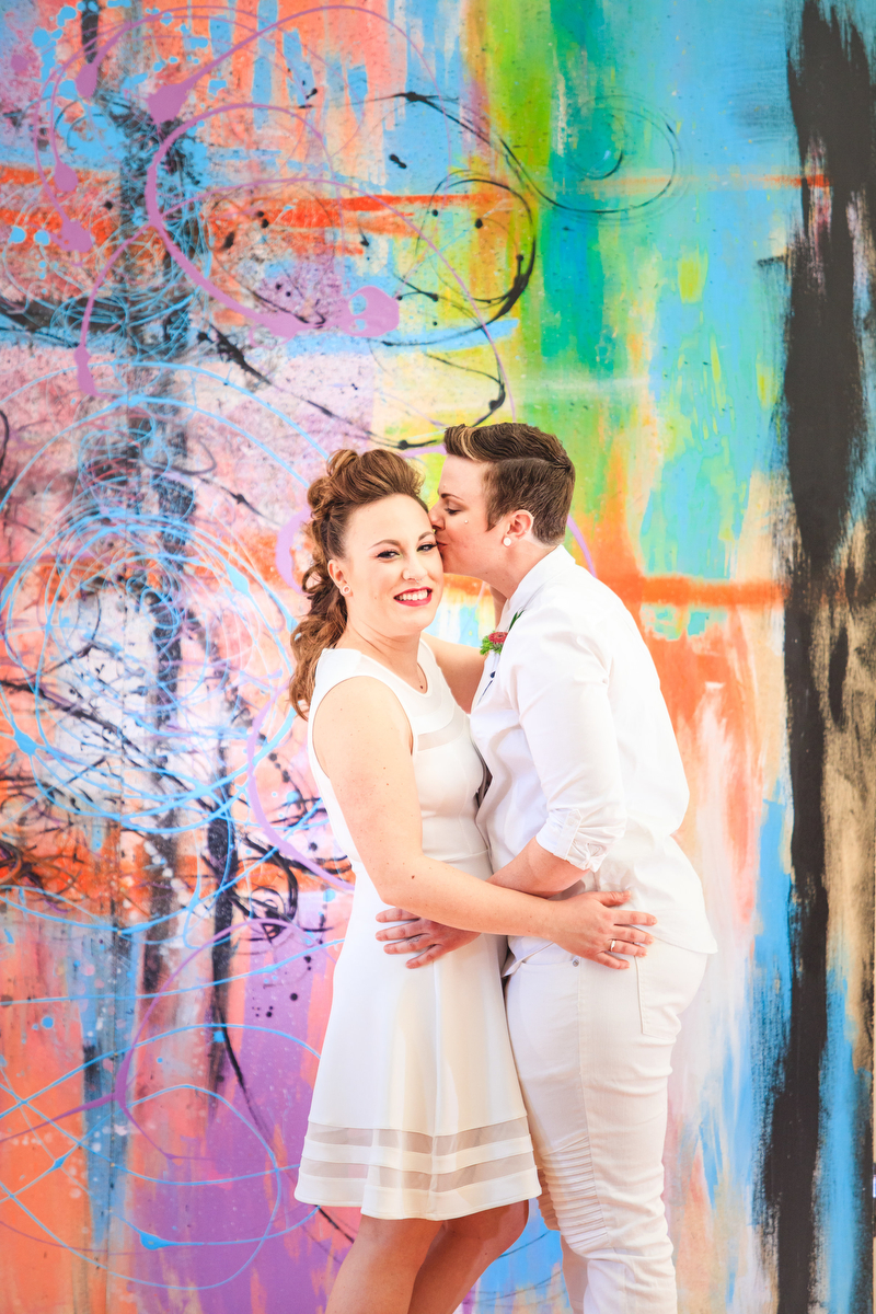 Love Out Loud Parker Colorado Styled Shoot candice kissing kaitlyn's temple