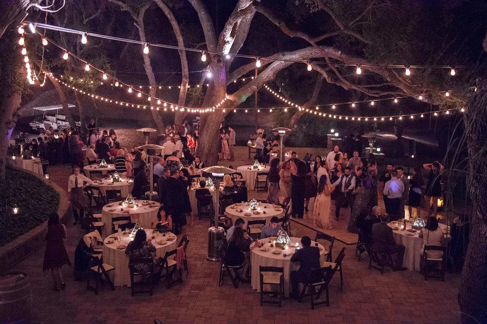 circle oak ranch farm wedding california wide photo of reception area