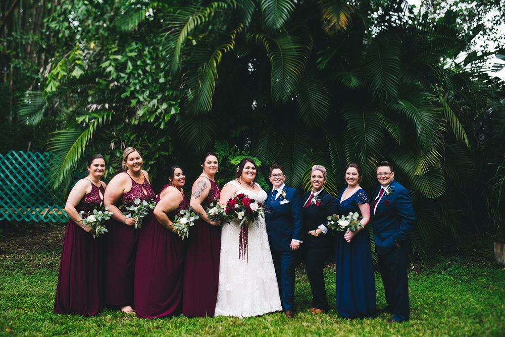 fairytale garden wedding vero beach florida wedding party in garden