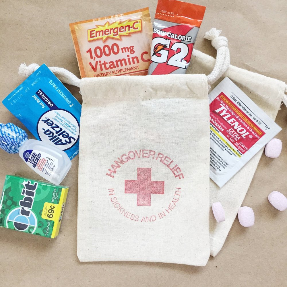 Hangover Relief Bags by Paper Art Scissors