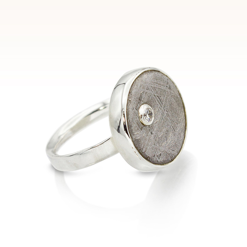 Diamond Stardust Cabochon Ring