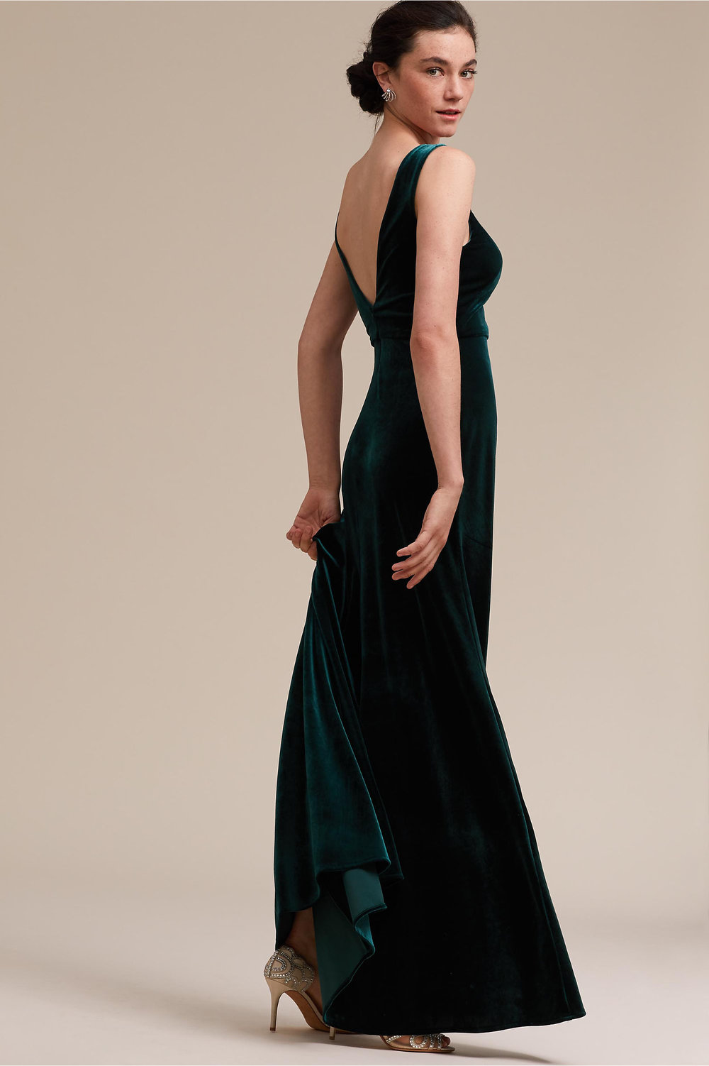 Logan Wedding Dress in Emerald by BHLDN