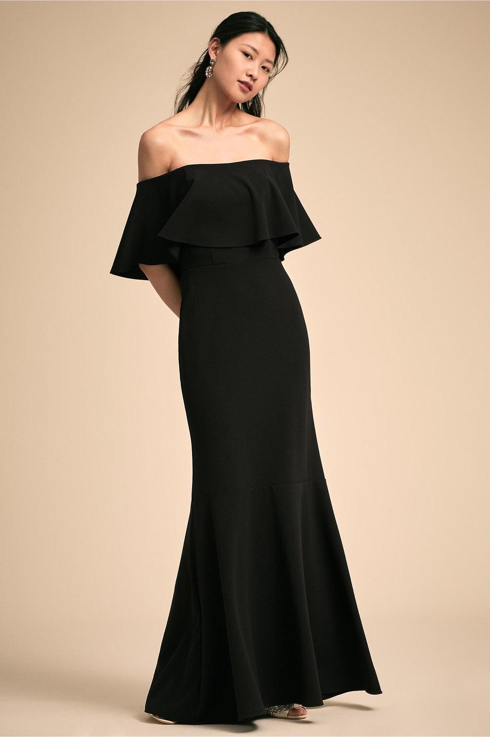 Dara Wedding Dress in Black by BHLDN