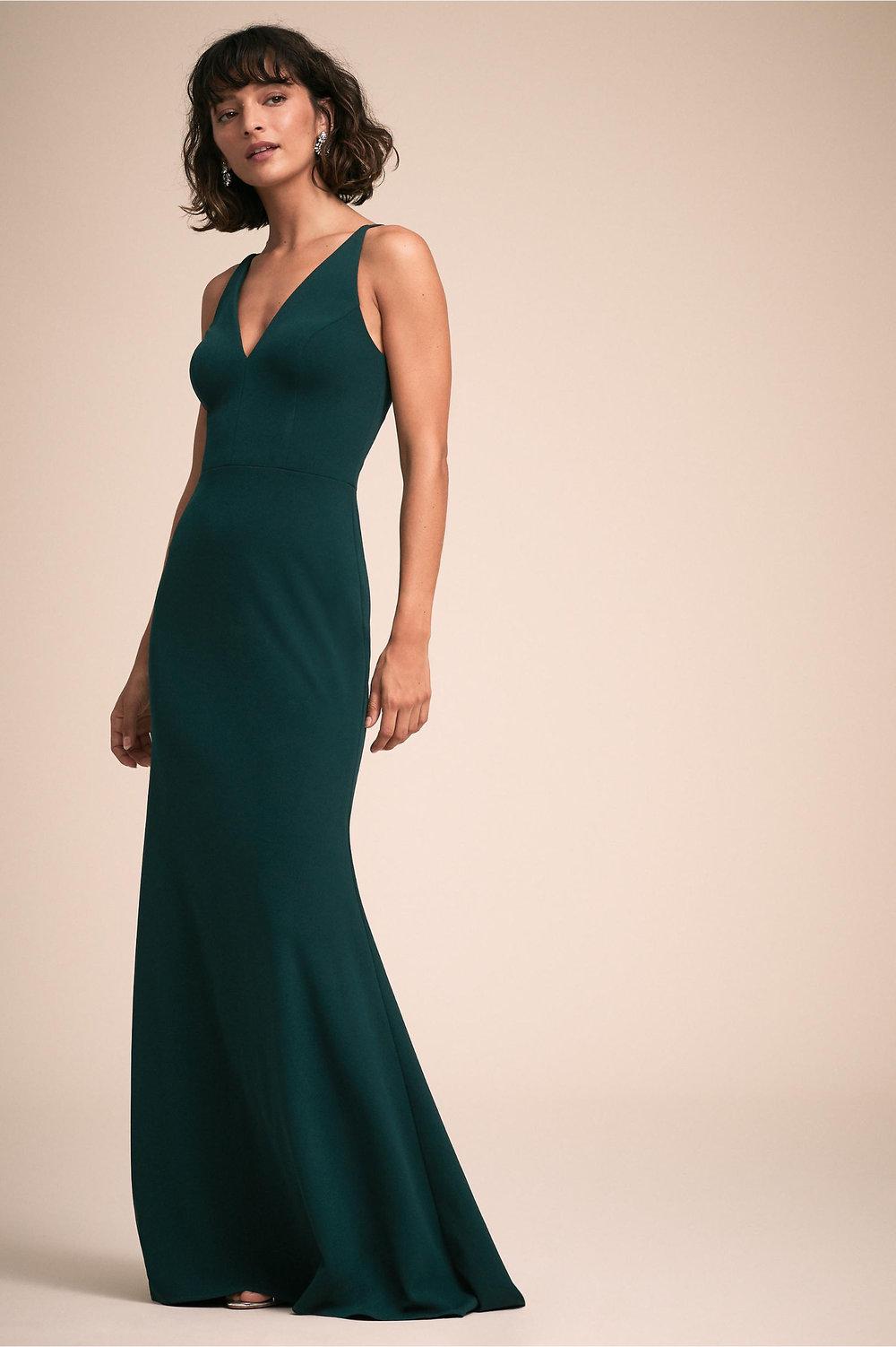 Jones Wedding Dress in Dark Emerald by BHLDN