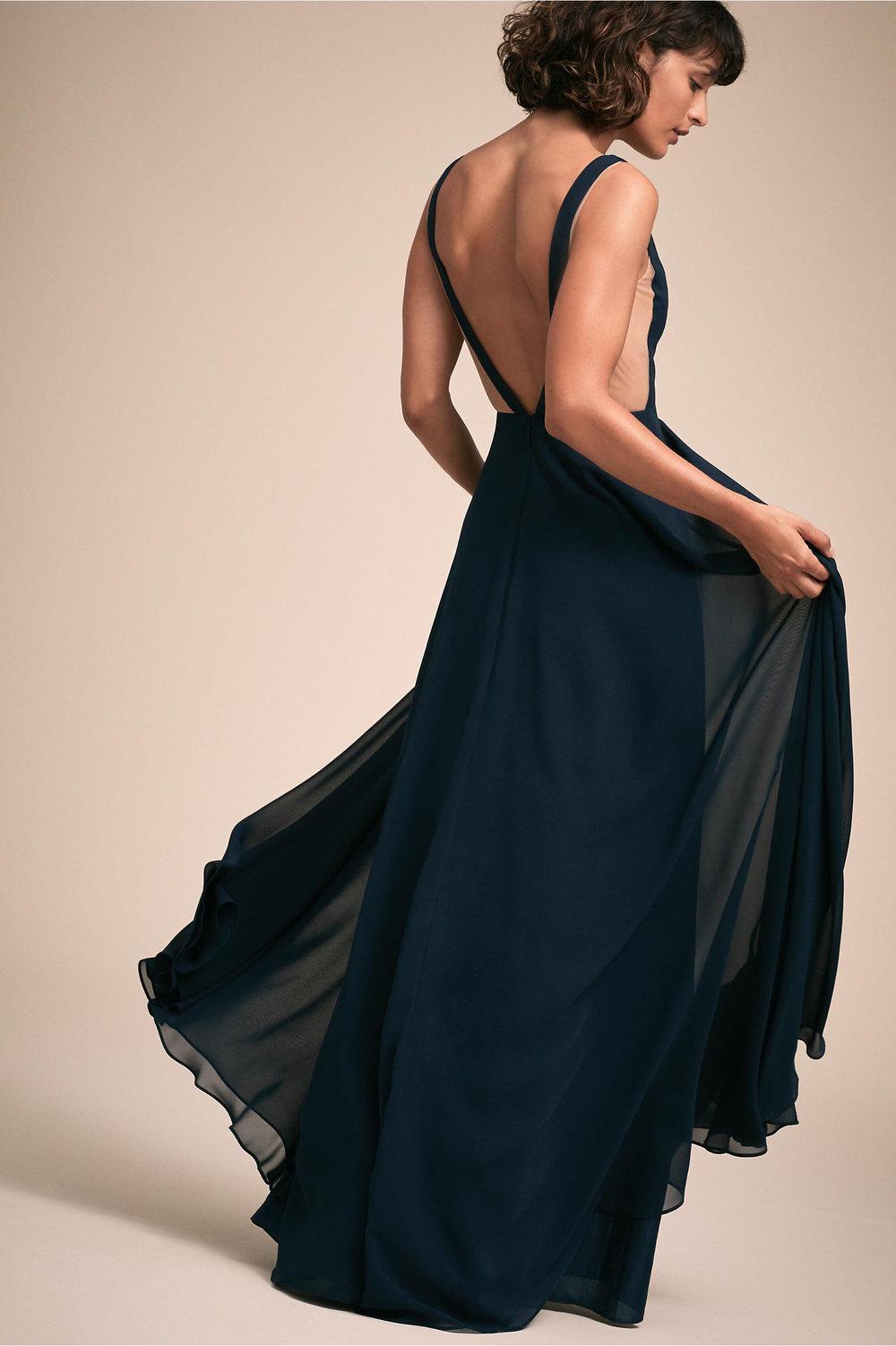 Colby Wedding Dress in Navy by BHLDN
