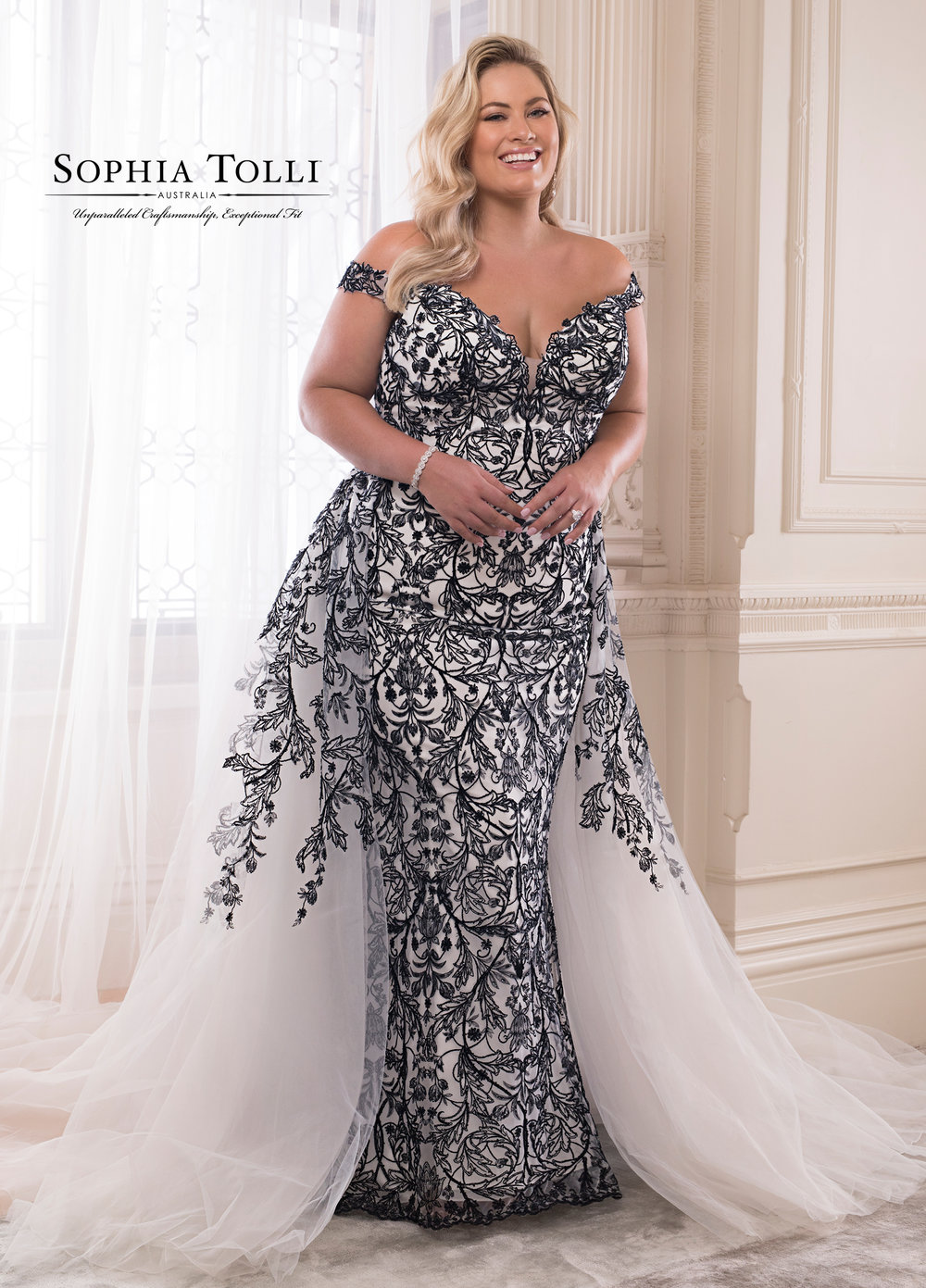 Obsidian Wedding Dress by Sophia Tolli