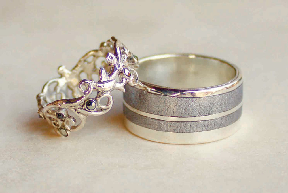 Wedding bands and engagement rings by Forge and Fountain Jewelry