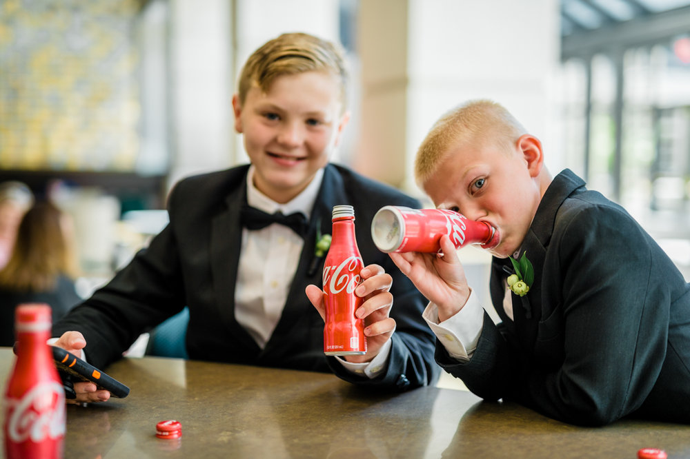 classic diverse wedding in washington dc young guests enjoying coca cola