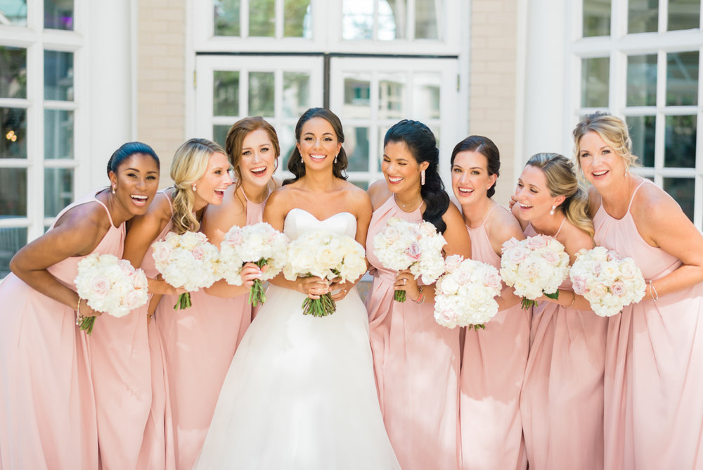 classic diverse wedding in washington dc zoe and bridesmaids