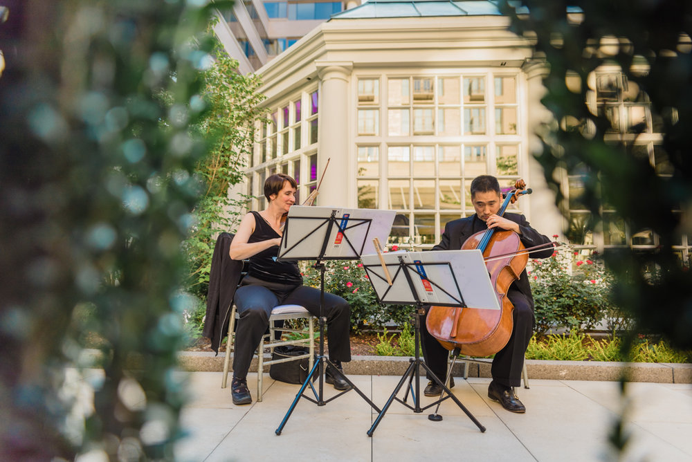 classic diverse wedding in washington dc classical musicians playing