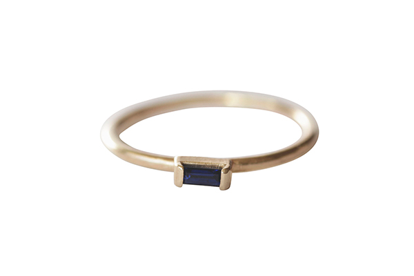 Sapphire Baguette Wedding Ring