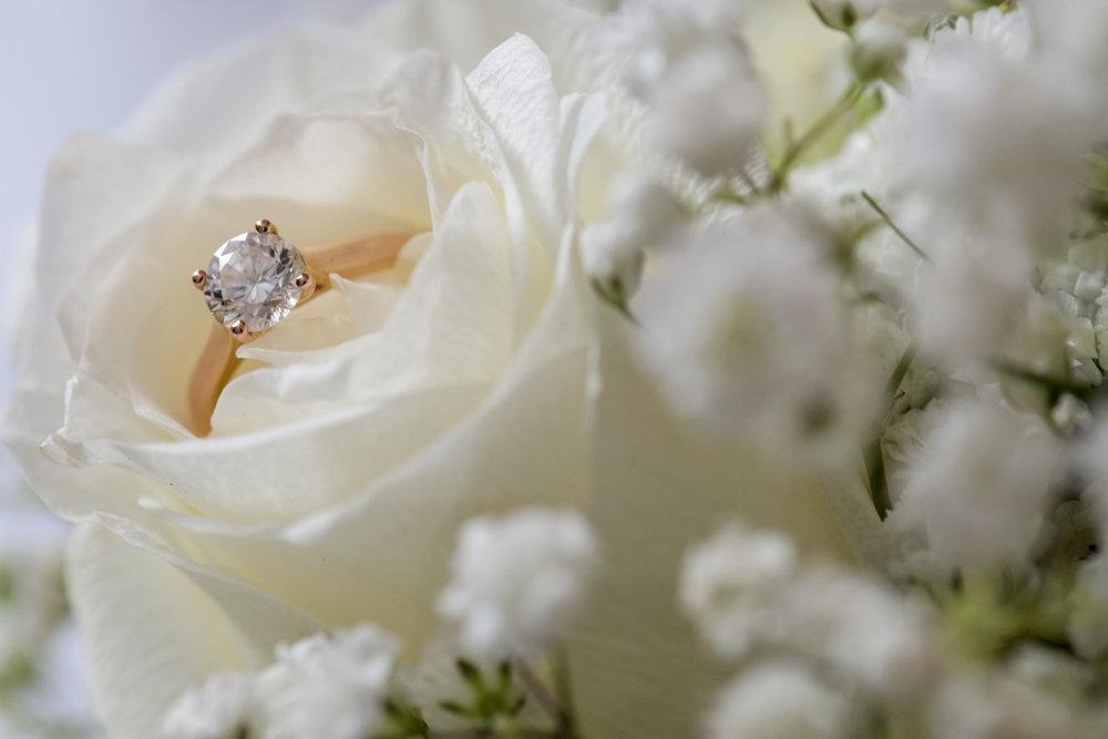 sri lankan wedding in sydney australia engagement ring inside blooming rose