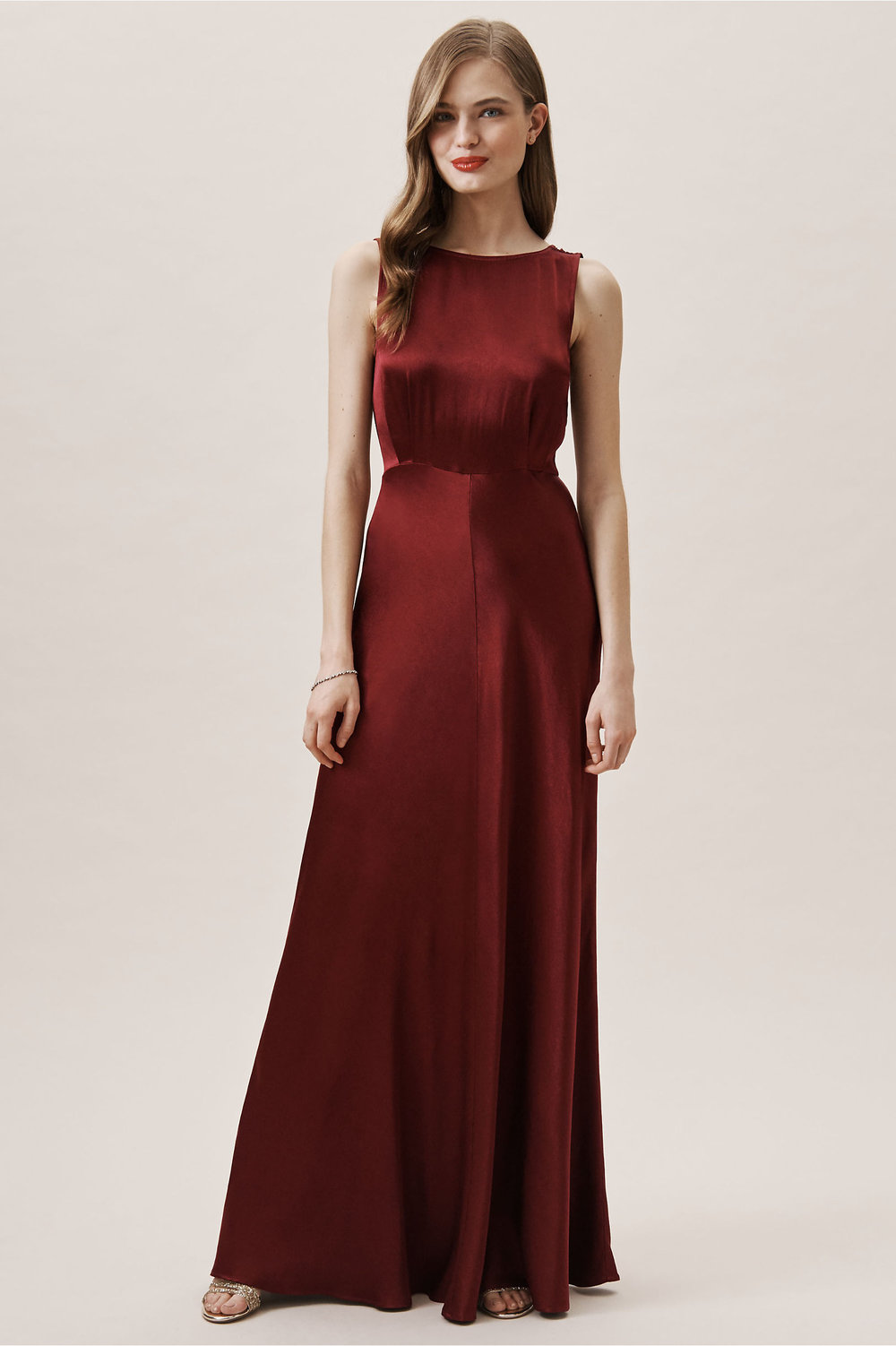 alexia red wine dress bhldn spring 2019 wedding collection