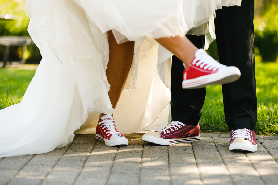 african american, christian, and muslim traditions minneapolis wedding couple's custom chuck taylors