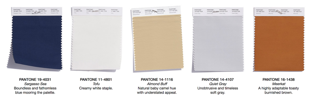 Fall Neutrals Color Swatches.  Image from Pantone