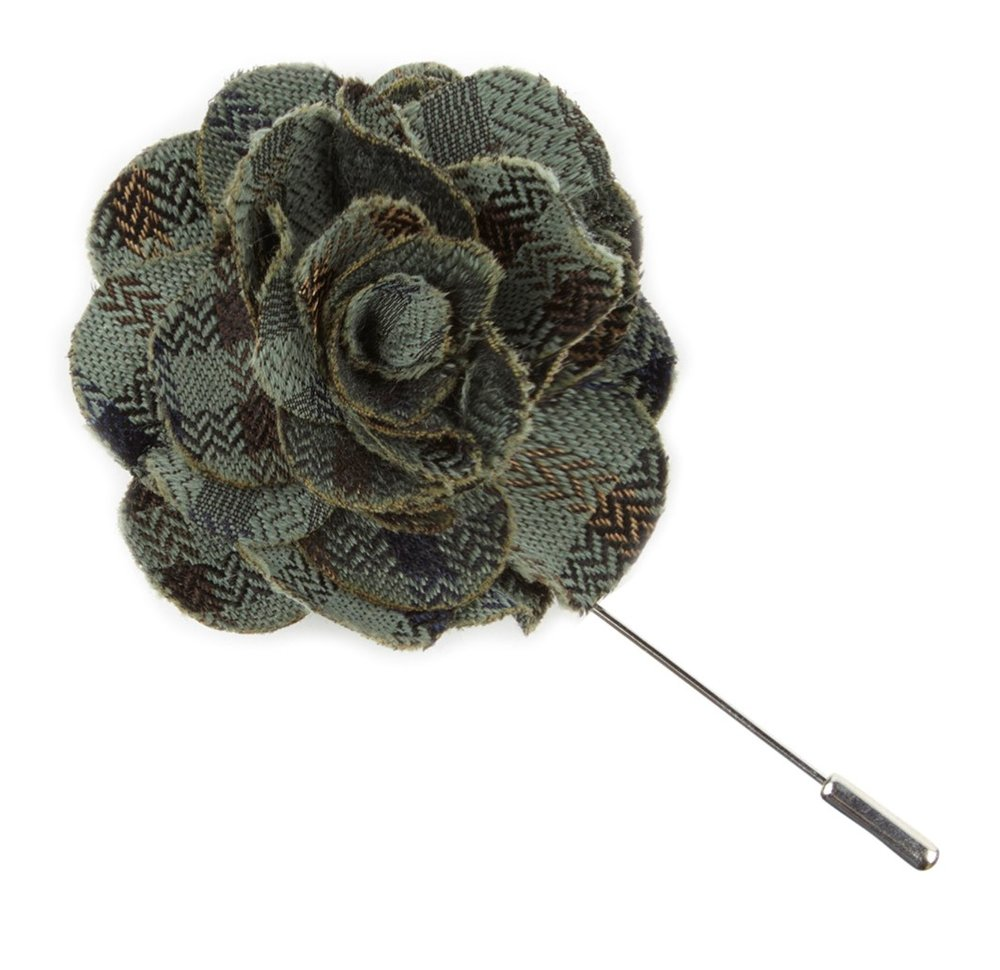 Southeast Plaid Flower Lapel Pin from The Tie Bar