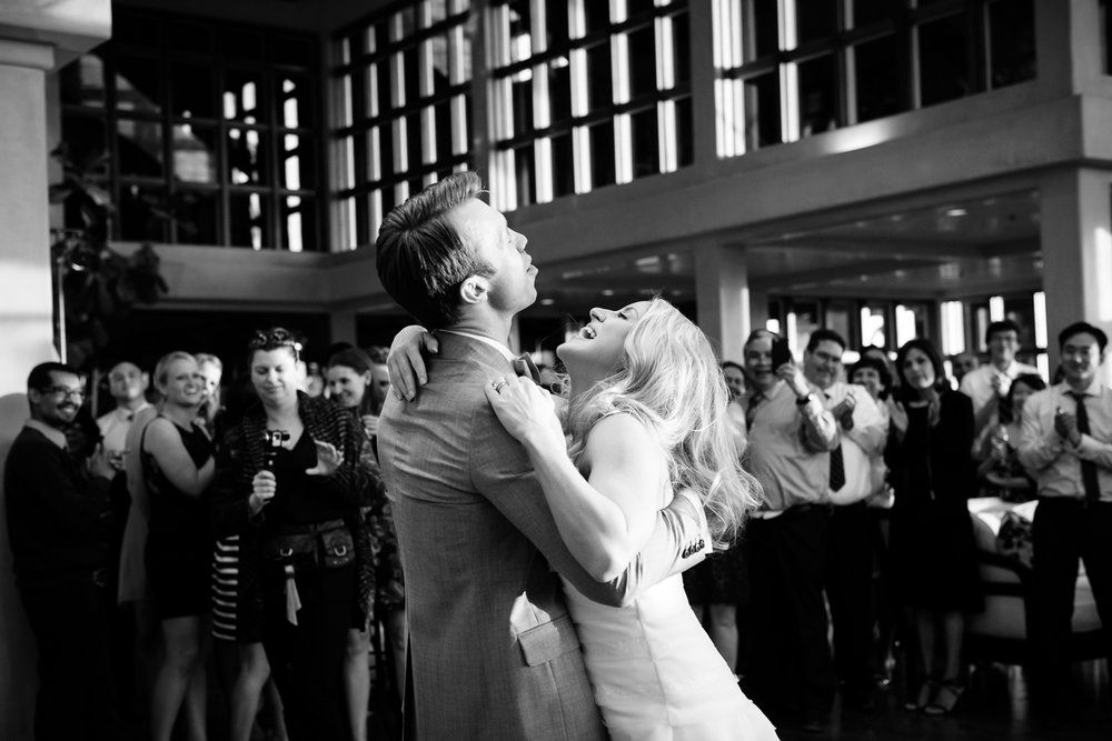 newlywed couple dancing at wedding reception 43rd Ave Photography