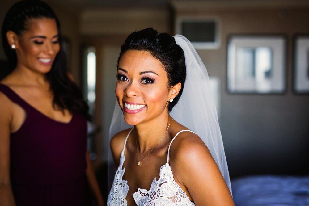 New Orleans Destination Wedding jessica smiling for camera
