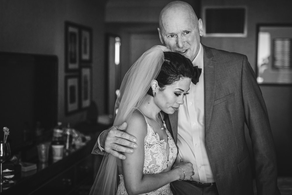 New Orleans Destination Wedding jessica with her father