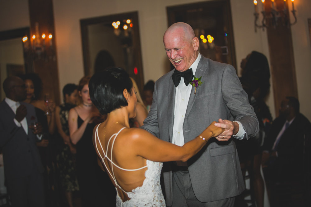 New Orleans Destination Wedding jessica dancing with father