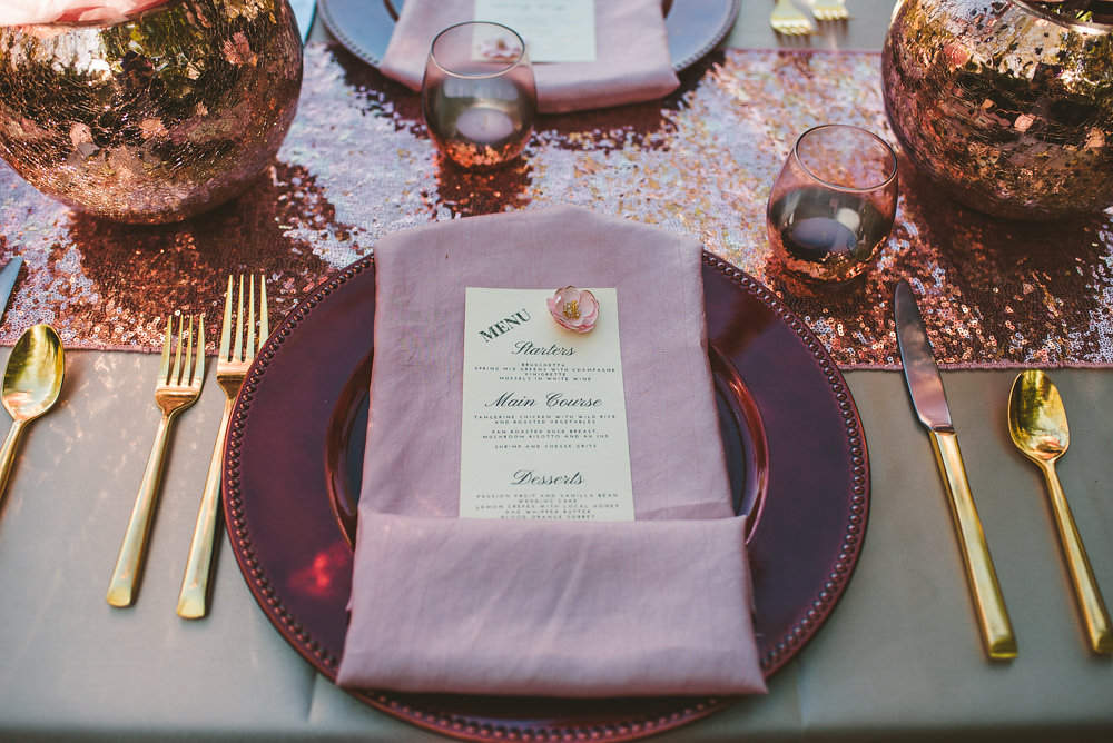 wedding inspiration the boathouse at sunday park midlothian virginia place setting with menu