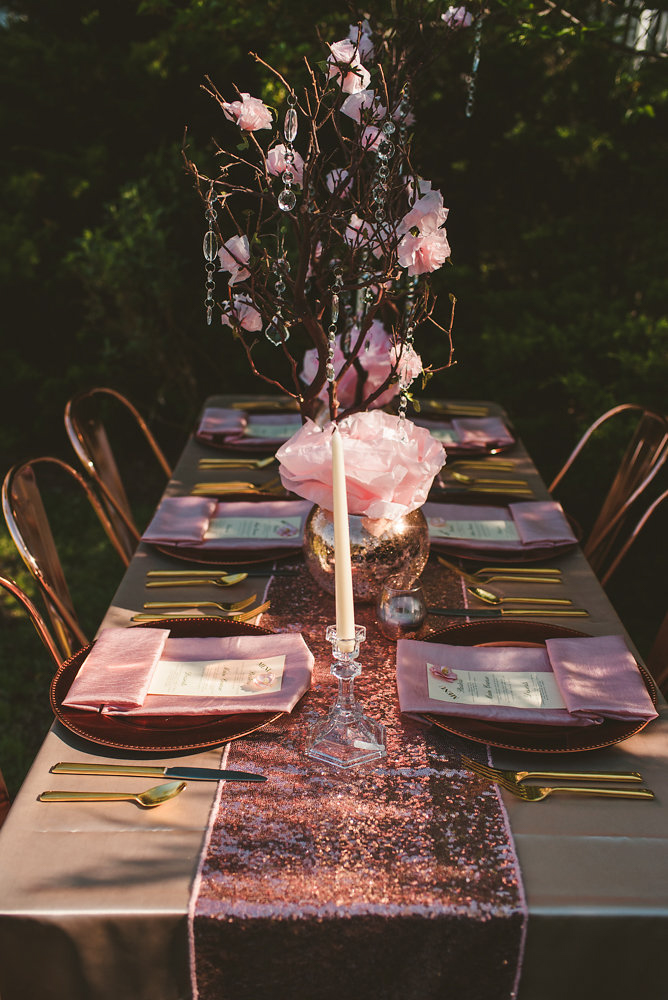 wedding inspiration the boathouse at sunday park midlothian virginia table with setting sunlight