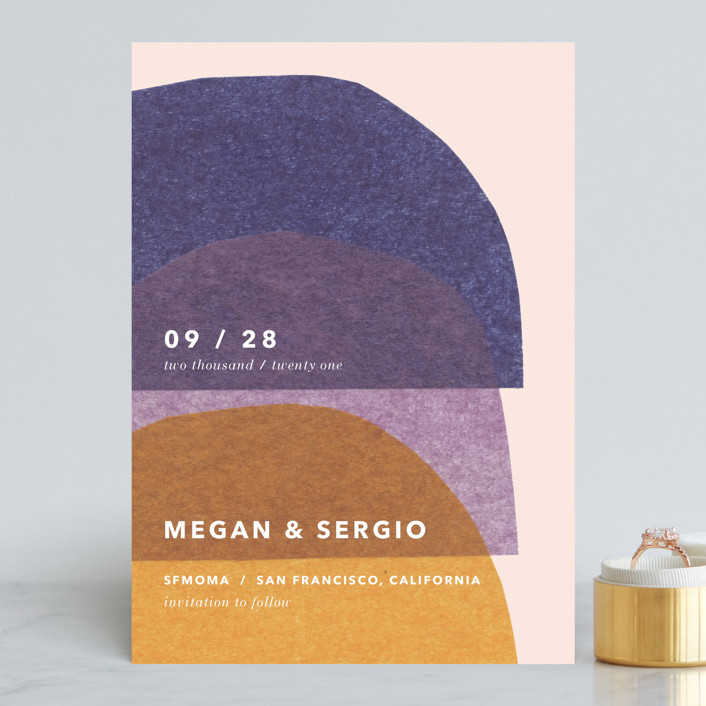 Cut-Paper Bells Save the Date by Carrie Moradi