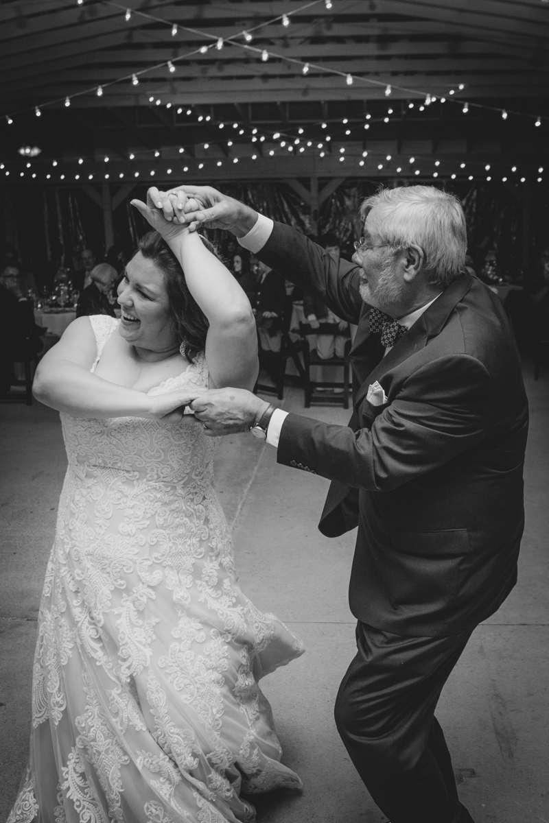 Romantic, Intimate-Feeling Wedding caroline dancing with her father