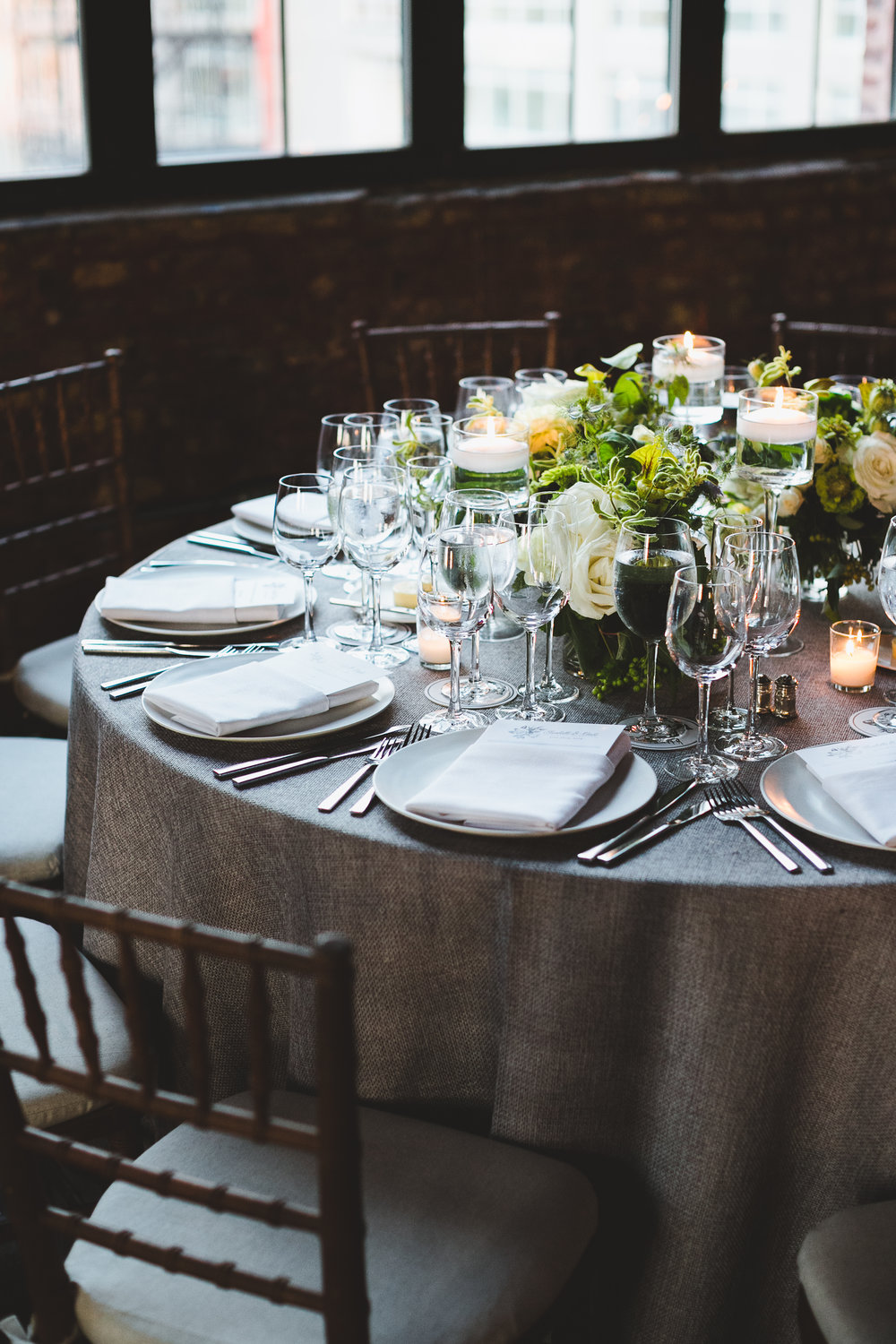 Sophisticated Wedding at Brooklyn Greenpoint Loft.  Photo by Katie Osgood .