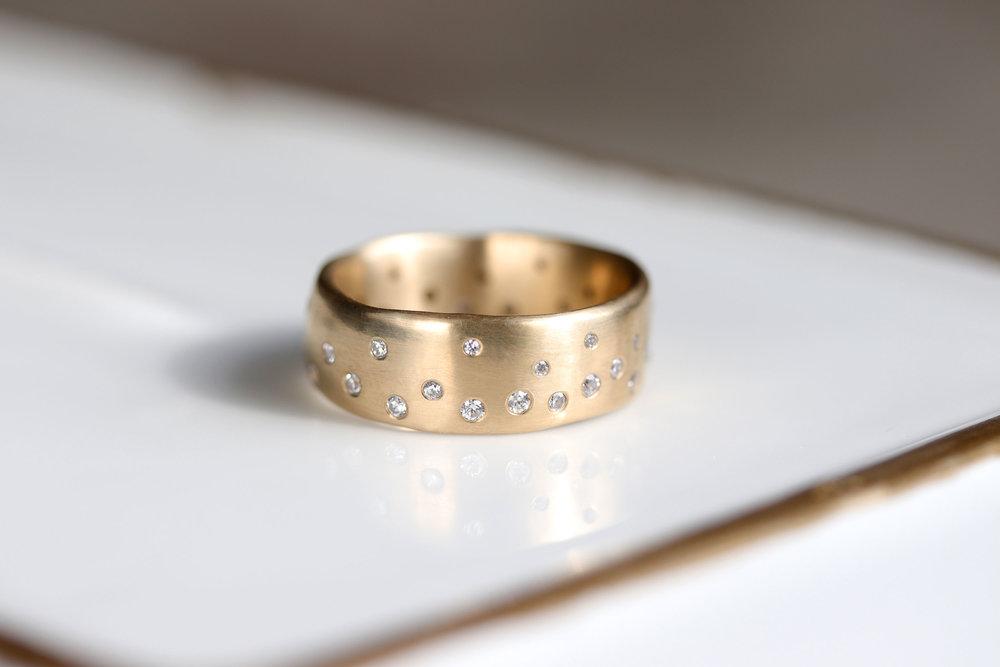 Sculpted Celestial Ring