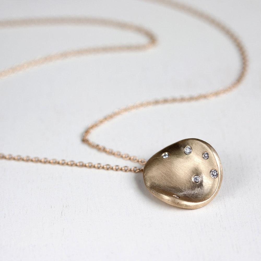 Large Disc Diamond Necklace