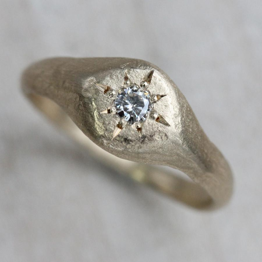 Signet Engagement Ring