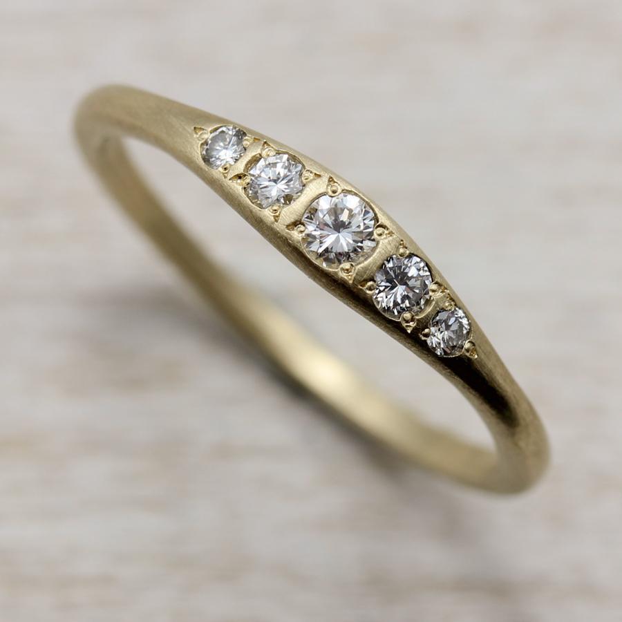 Bead Set Five Stone Ring