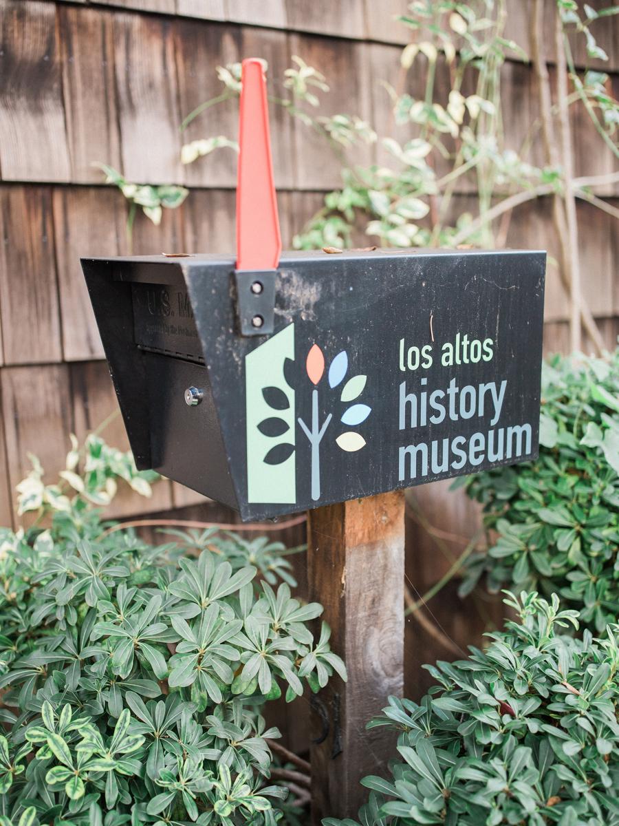 """los altos lutheran same-sex wedding mailbox reading """"los altos history museum"""""""